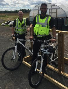 Our Community Cops are already making good use of the cycling facilities in Braehead and Broomridge