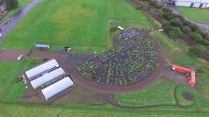 Braehead Community Garden from the air.