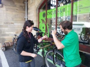 Dr Bike repair in action
