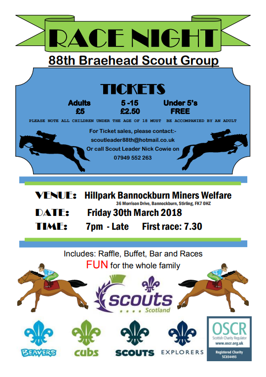 Braehead Scout Fundraising event