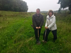 Chris Kane and Wendy Maclean on the site of Stirling's lost swimming pool